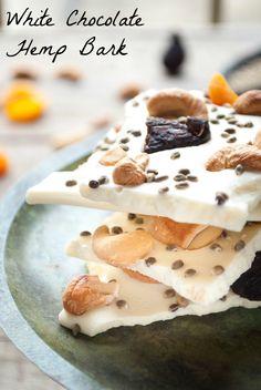 White Chocolate Hemp Bark with Fruits and Nuts | whitbitskitchen.com