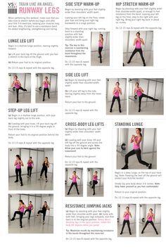 victorias secret angels workout: Runway Legs