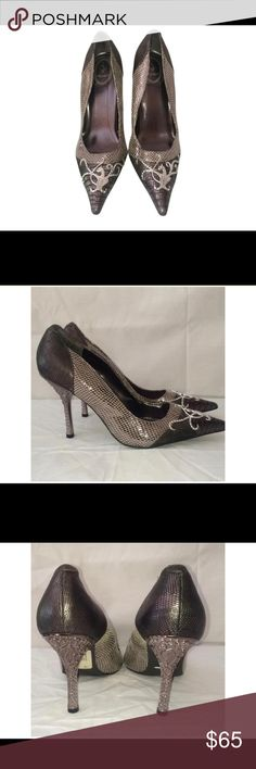 💜💙BABY PHAT💜💙PEWTER HEELED PUMPS💜💙10M💜💙 ❤️💜NWT💜💙THESE ARE BEAUTIES💙💚PRICE IS FIRM 💚💖 Baby Phat Shoes Heels