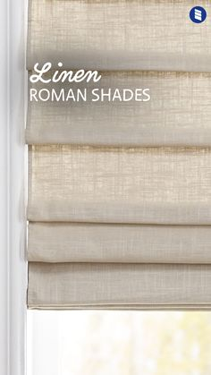 Minimalist tone-on-tone looks are sweeping the decor world. The look we're seeing EVERYWHERE lately – Linen Roman Shades. Minimalist tone-on-tone looks are sweeping the decor world. The look we're seeing EVERYWHERE lately - Linen Roman Shades. Farmhouse Window Treatments, Window Treatments Living Room, Living Room Windows, My Living Room, Living Room Decor, Window Treatments French Doors, French Door Coverings, Cheap Window Treatments, Living Room Blinds