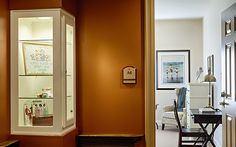 Memory boxes at Paintbrush Assisted Living help memory care patients find their rooms by displaying personal memorabilia in decorative glass cases.