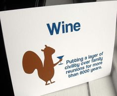 Wine  squirrls!!! Whats notthe to love??? - Funny card  squirrels and wine WG143 by WryAndGinger on Etsy, $3.50