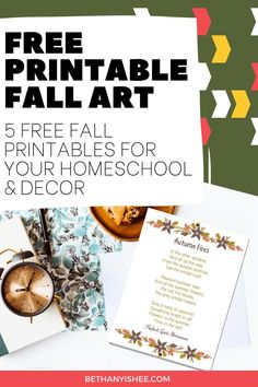Enjoy five free fall printables featuring five poems to enjoy this autumn season. Use these for copywork, morning time, or memorization in your homeschool. #homeschool #homeschooling #poems