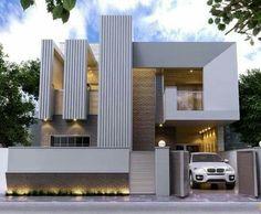 45 luxury modern house exterior design ideas – My Ideas Design Exterior, Facade Design, Modern Exterior, Duplex House Design, House Front Design, Modern House Facades, Modern Architecture House, Luxury Modern Homes, Modern Villa Design