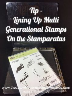 The Cow Whisperer's Creative Cards:Tip - How to Line Up Multi Generational Stamps on the Stamparatus Card Making Tips, Card Making Techniques, Making Ideas, Making Tools, Making Cards, Tim Holtz Stamping Platform, Rubber Stamping Techniques, Wrapping Paper Crafts, Paper Crafting