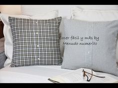 Ideas to upcycle a shirt, try this easy DIY project and make new cushions for your home. Have fun with my easy DIY projects and sewing for beginners Recycled Mens Shirt, Beach Theme Wall Decor, Diy Y Manualidades, Diy Outdoor Table, Baby Patchwork Quilt, Shirt Tutorial, Denim Crafts, Sewing Projects For Kids, Diy Pillows