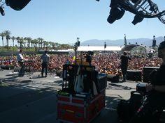 Metronomy on stage at Coachella 2012