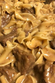 Cubed sirloin tips baked in cream of mushroom soup, red wine, milk, mixed with beef and beef onion soup mix. Served over egg noodles. Great with dinner rolls or garlic toast. Ingredients 2 pounds sirloin tips, cubed Egg Noodle Recipes, Meat Recipes, Crockpot Recipes, Cooking Recipes, Delicious Recipes, Hotdish Recipes, Advocare Recipes, Crockpot Dishes, Pastor