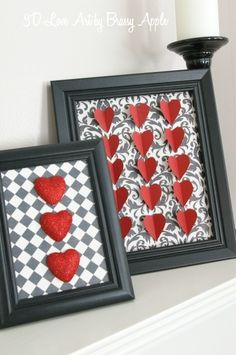 Heart picture frame decor **Valentine's day**