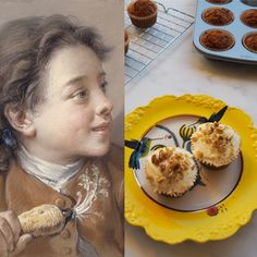 François Boucher y los cupcakes de zanahoria – EATING ARTS Camembert Cheese, Dairy, Food, Yummy Cakes, Fairy Cakes, Best Recipes, Essen, Meals, Yemek