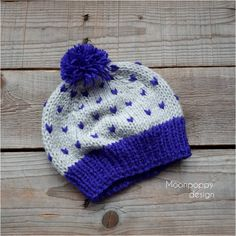 Baby beanie with pom pom, Knit baby hat in grey, Grey beanie with purple pom pom, Baby girl hat, Knit hat in grey and purple Baby Girl Hats, Girl With Hat, Baby Pom Pom Hat, Pom Poms, Knitting Baby Girl, Baby Knits, Baby Boy Jackets, Baby Mittens, Lace Knitting Patterns