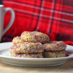 Soft Spice Cookies with Cranberry Sugar