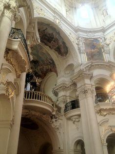 Church of St. Nicholas Interior, Left Side. Prague
