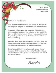 1000 images about elf on the shelf on pinterest elf on With magic santa letter