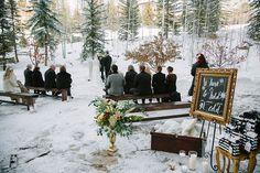 Intimate outdoor snowy wedding at the Park Hyatt Beaver Creek Resort & Spa
