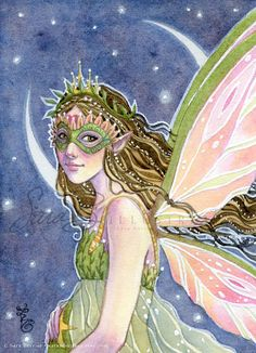 This listing is for an art print of my original watercolor painting, Star Blessing.    The reproduction is printed in my studio, by me, to match the