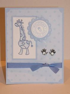 Welcome Little Baby Boy by akbride - Cards and Paper Crafts at Splitcoaststampers