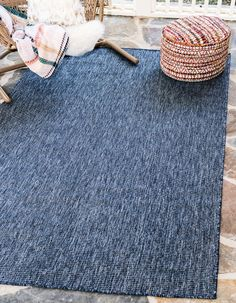Unique Loom Outdoor Solid Collection Casual Transitional Indoor and Outdoor Flatweave Blue Area Rug 0 x Indoor Outdoor Rugs, Outdoor Area Rugs, Patio Rugs, Outdoor Rooms, Outdoor Living, Antique Coat Rack, Shed Colours, Colors, Solid Rugs