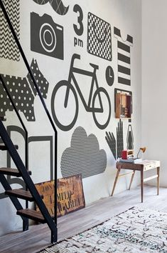 Motif nonwoven #wallpaper FLAT ICON by Wall&decò | #design Lorenzo De Grandis @Jordan Bromley Bromley Waller&decò