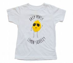Pin for Later: Your Tiny Tot Will Be the Cutest Little Hipster in These Clothes Easy Peasy Lemon Squeezy T-Shirt Kids selling lemonade is a pretty cute sight. What's even cuter? Kids wearing this graphic tee ($24) while running a lemonade stand.