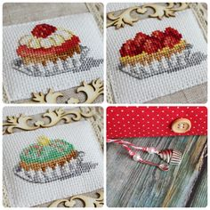 I promised to show you a new culina … - Stickerei Ideen To My Parents, New Cookbooks, I Promise, Cross Stitch Embroidery, Illustration, Coin Purse, Quilts, Blog, Kitchen