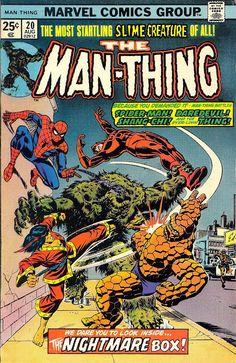 Comic Book Critic - Google+ - Man-Thing #20 (Aug '75) cover by John Romita.