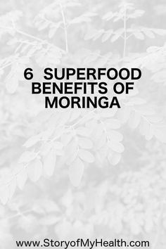Moringa is a #superfood that is rich in #antioxidants and #nutrition, however, it is virtually a secret. Here are 6 Superfood Benefits of #Moringa.