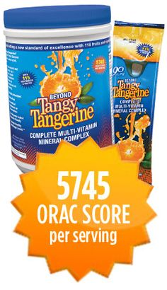 Beyond Tangy Tangerine, 5745 ORAC per serving! Nothing comes close to this product! #Youngevity
