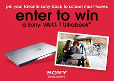 Win the New Sony VAIO T in Our Back to School Pinterest Contest - www.casasugar.com
