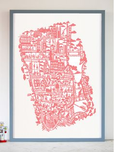 NYC PINK MAP @Amanda Gaudet