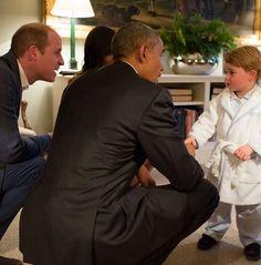 Quand le prince Georges reçoit le couple OBAMA