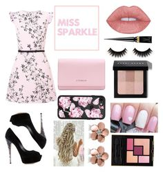 """""""Miss Sparkle"""" by tess384 on Polyvore featuring Miss Selfridge, Casadei, Givenchy, Christian Louboutin, Bobbi Brown Cosmetics, Casetify, Allurez and Yves Saint Laurent"""