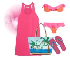 """""""I need beach."""" by nurinur ❤ liked on Polyvore featuring Splendid, Kate Spade, Havaianas and Je m'en fous"""