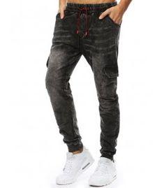 Čierne pánske jogger nohavice s džínsovým vzhľadom Sweatpants, Fashion, Moda, Sweat Pants, Fasion, Training Pants