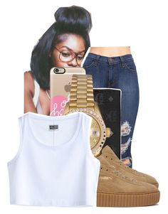 """"""""""" by ayeeitsdessa ❤ liked on Polyvore featuring Casetify, MCM, Rolex, Puma and MTWTFSS Weekday"""