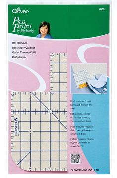 Hot Hemmer - Press Perfect Clover 7806 sewing notion