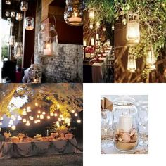 Instead of throwing away all your glass jars, incorporate them into your sustainable reception! DIY and eco friendly