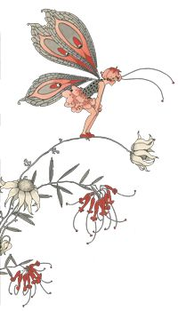 """Fairy with wings taken from the illustration """" If I only Wings """" Just beautiful!"""