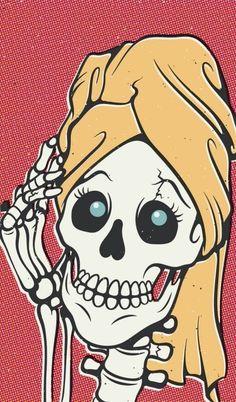 Skeleton getting ready for the Monster Mash.