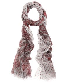 Pink Paisley and Polka Dot Cashmere Scarf, Me and Kashmiere.