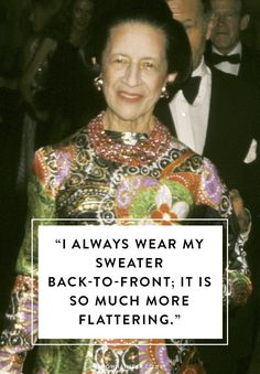 Celebrate the iconic Diana Vreeland with a selection of her best fashion quotes. Rules to live by indeed. Diana Vreeland, Fashion Designer Quotes, Fashion Quotes, Womens Clothing Online Canada, Look Formal, Womens Fashion Stores, Fashion Online, Inspirational Quotes For Women, Aged To Perfection