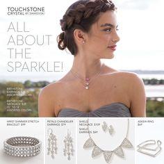 Touchstone Crystal by Swarovski will highlight ANY dress!!  #ThinkProm #Prom2017