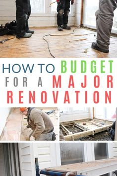 Home Renovation Costs How to plan and budget for a major home renovation; deciding whether to pay cash or to finance the work; plus how to budget for and calculate cost overruns. Also, When to DIY your home renovation and when to call in the experts. Home Renovation, Basement Renovations, Home Remodeling, Remodeling Costs, House Renovation Costs, Home Remodel Costs, Kitchen Remodeling, Home Improvement Loans, Home Improvement Projects