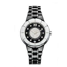 Relógio feminino de cerâmica preta e centro full pavé http://m.hstern.com.br/relogio/feminino/sports-luxury/RS9AC204239