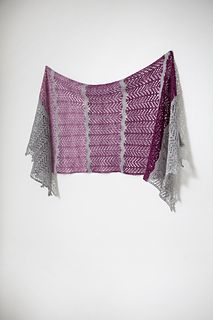 Softly Spoken is a beautiful rectangle lace wrap inspired by northern skies and changing seasons.