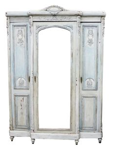 Ordinaire Painted Shabby/Rustic French Armoire/wardrobe