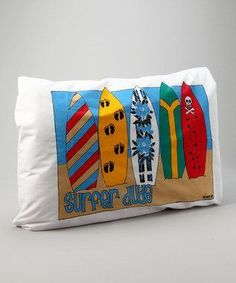 Personalized Surfer Dude Pillow Case