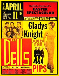 """Gladys Knight & The Pips."" Fantastic Print Taken from A Vintage Concert Poster by Design Artist http://www.amazon.co.uk/dp/B0153G7T9A/ref=cm_sw_r_pi_dp_-ZU7vb1MHZPNT"