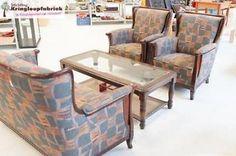 Een prachtige set van 2 fauteuils en 1 bank! #kringloop #kringloopfabriek #thrift