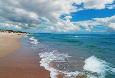 Sandy beach in Katerini